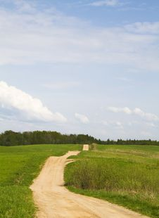 Free Road Through The Meadow Stock Photography - 14222962