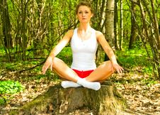Free Girl Doing Yoga Stock Photos - 14223033