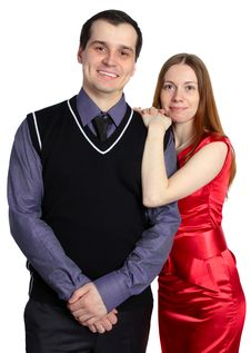 Free Сouple. Young Woman And Man Isolated Royalty Free Stock Photos - 14223158