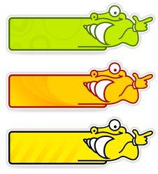 Snail Sticker Royalty Free Stock Photography