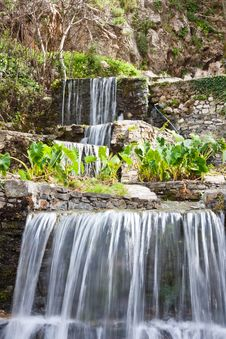 Free Waterfalls At Argyroupoli Royalty Free Stock Image - 14224316