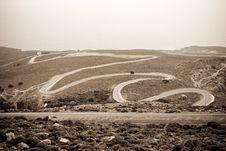 Free Road To Khora Sfakion Stock Photos - 14224343