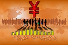 Free Chinese Yuan Statistics Bars Royalty Free Stock Photo - 14224565