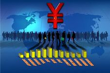 Free Chinese Yuan Statistics Bars Royalty Free Stock Photo - 14224575