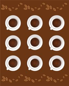 Coffee Cups Classic Wallpaper Stock Image
