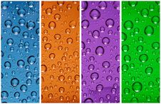 Free Multicolor Water Drops Royalty Free Stock Photography - 14225307