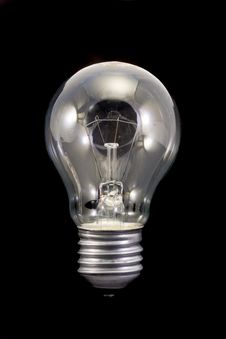Free Light Bulb On Black Stock Photos - 14226563