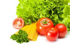 Free Tomato With Salad And Pasta Stock Photos - 14227653