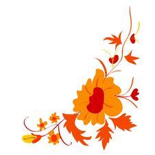 Free Corner Floral Composition Stock Image - 14227781