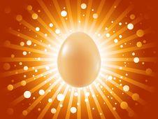 Beautiful Easter Egg Background Stock Image
