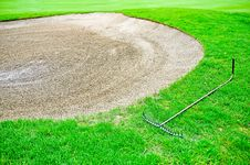 Free Golf Bunker Sand Royalty Free Stock Photos - 14228888