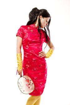 Free Red Geisha Royalty Free Stock Image - 14229406