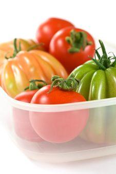 Free Closeup Tomatoes Royalty Free Stock Photography - 14229687