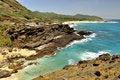 Free Hawaiian Coast And Ocean Lookout Stock Photography - 14230172