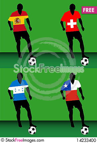 Soccer players - Group H Stock Photo