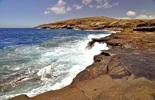 Lava Rock Shoreline Hawaii Royalty Free Stock Photo