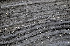 Black Lava Rock Design Stock Image