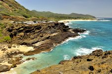 Hawaiian Coast And Ocean Lookout Stock Photography