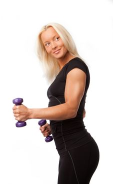 Free Woman Doing Exercise Stock Image - 14230271
