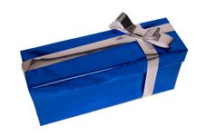 Gift With Grey Bow Stock Photography