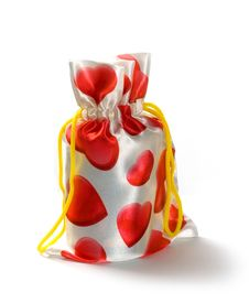 Free Gift Bag With Hearts Royalty Free Stock Image - 14230456