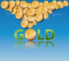 Free Gold Coins Royalty Free Stock Photography - 14230667
