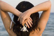 Free Woman Enjoys The Sea Stock Photo - 14230670