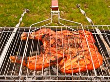 Free Chiken On Grill Stock Photography - 14231112
