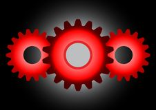 Free Red Cogwheels Royalty Free Stock Photography - 14231337