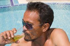 Free Thai Man In The Pool Royalty Free Stock Photos - 14232018