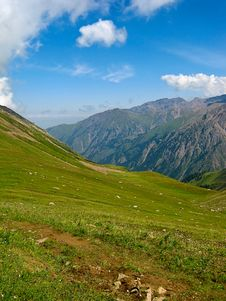 Free Mountains At Shymbulak Ski Resort Royalty Free Stock Photo - 14232145