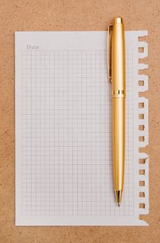 Free Note Paper And Pen Royalty Free Stock Photos - 14232458