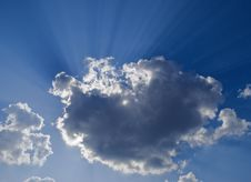 Clouds And Sunbeams Royalty Free Stock Photos