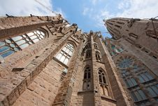 Free Sagrada Familia (low Angle) Stock Image - 14233861