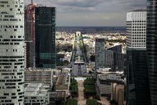 Free Arc De Triomphe Seen From La Defense Stock Photo - 14234100