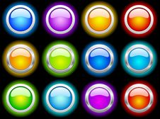 Free Color Shiny Web Buttons Royalty Free Stock Image - 14234296