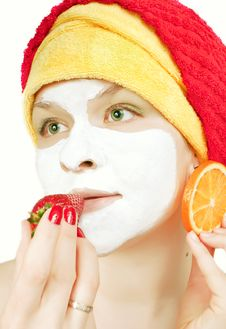 Free Girl With A Face Mask Stock Photo - 14234420