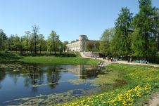 Free Landscape Of Palace Park With Lake In Gatchina Stock Image - 14234481