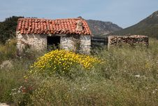 Italy Rural House Hinterland Of The Sardegna Royalty Free Stock Photo