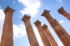 Free Jerash - Columns Stock Photography - 14234652