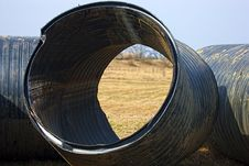 Huge Pipes Stock Image