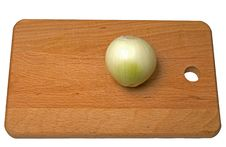 Onion On A Breadboard Royalty Free Stock Images