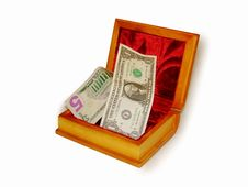 Free Casket With Money Stock Photography - 14235452