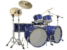 Free Drum Kit Isolated On A White Stock Photography - 14235802
