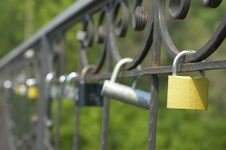 Free Locks Of Love On Bridge Royalty Free Stock Photos - 14236248