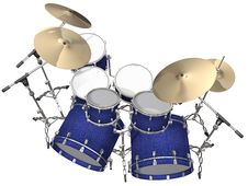 Free Drum Kit Isolated On A White Stock Photo - 14236270