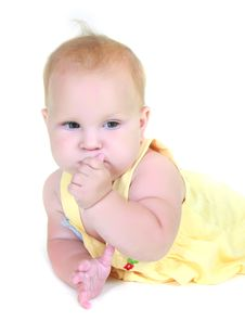 Free Cute Baby Girl Stock Images - 14236314