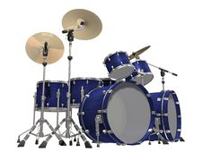 Free Drum Kit Isolated On A White Royalty Free Stock Images - 14236369