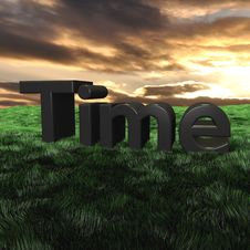 Time 3d Scape Stock Photos
