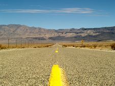 Desert Road Through Death Valley, California Royalty Free Stock Image